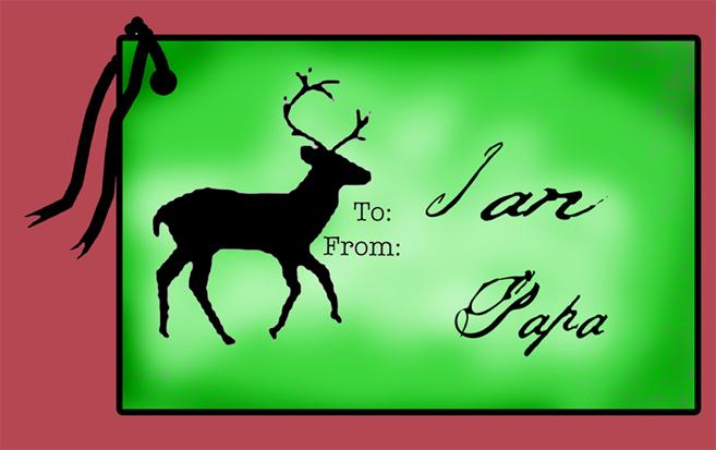 Deer Gift Tag